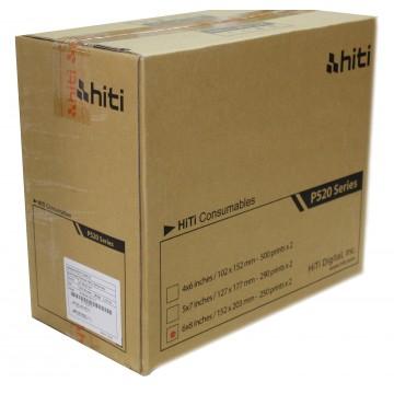 CAIXA PAPEL 2x250  15x20 P/ HITI P520L & P525L