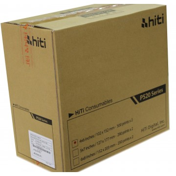 CAIXA PAPEL 2x500  10x15 P/ HITI P520L & P525L