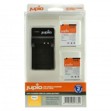 KIT JUPIO 2 BATERIAS EN-EL12  + CARREGADOR SINGLE USB