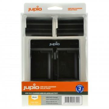KIT JUPIO 2 BATERIAS EN-EL15(1700mAh) + CARREGADOR DUPLO USB