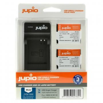 KIT JUPIO 2 BATERIAS DMW-BCM13E + CARREGADOR SINGLE USB