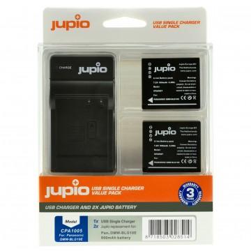 KIT JUPIO 2 BATERIAS DMW-BLG10 + CARREGADOR SINGLE USB