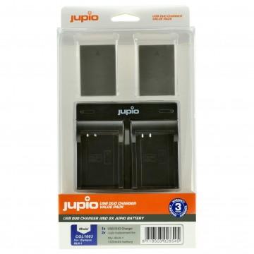 KIT JUPIO 2 BATERIAS PS-BLN1/BLN-1+ CARREGADOR DUPLO USB