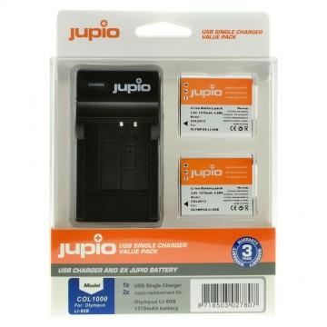 KIT JUPIO 2 BATERIAS Li-90B/Li-92B+CARREGADOR SINGLE USB