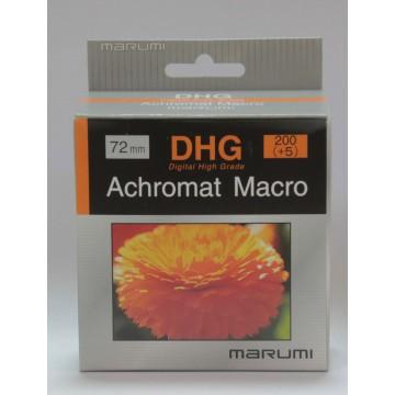 FILTRO DHG ACHROMAT MACRO 200(+5) 72mm - MARUMI