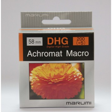 FILTRO DHG ACHROMAT MACRO 200(+5) 58mm - MARUMI