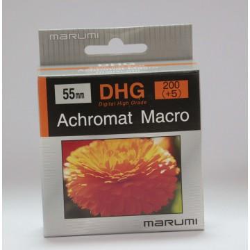 FILTRO DHG ACHROMAT MACRO 200(+5) 55mm - MARUMI