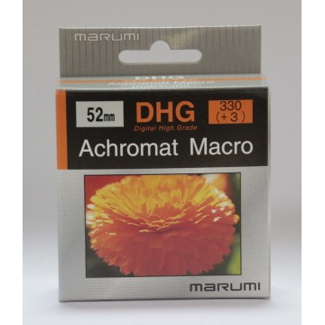 FILTRO DHG ACHROMAT MACRO 330(+3) 52mm - MARUMI