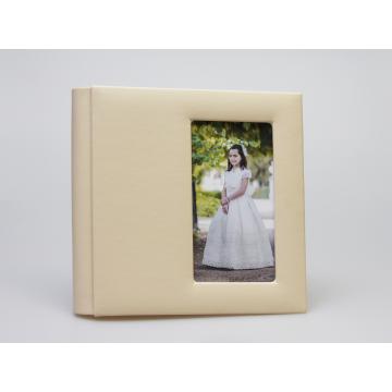 ALBUM PELE 30 FLS 30x30cm C/JANELA VERTICAL SUBLIME -  BEJE