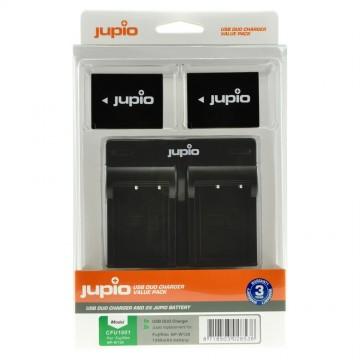 KIT JUPIO 2 BATERIAS NP-W126 + CARREGADOR DUPLO USB