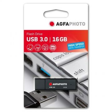 AGFA PEN USB3.0 16GB PRETA (10MB/35MB)