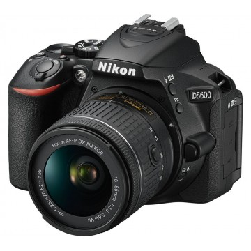 KIT DSLR NIKON D5600 + AF- P 18-55mm VR - BLACK