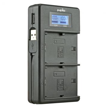 CARREGADOR USB DUPLO P/ 2 BATERIAS CANON LP-E6/E6N - JDC2001