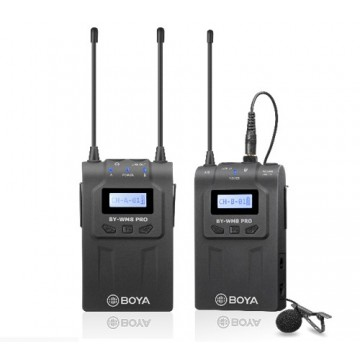 BYWM8 PRO-K1- CONJUNTO MICROFONE SEM FIOS DUAL UHF BOYA