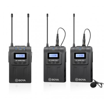 BYWM8 PRO-K2- CONJUNTO MICROFONE SEM FIOS DUAL UHF BOYA