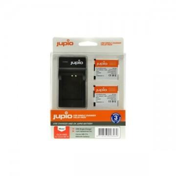 KIT JUPIO 2 BATERIAS NB-11L + CARREGADOR SINGLE USB