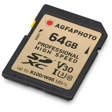 AGFA CARTAO SDXC 64GB PROFISSIONAL UHS1 U3 V30
