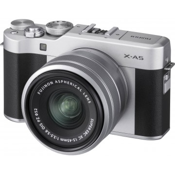 MÁQUINA FUJI XA-5 + LENTE XC15-45mm F3.5-5.6 OIS PZ (PRATA)