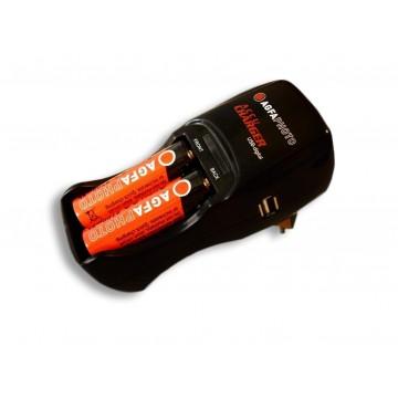 CARREG ACCU USB DIGITAL 2xAA  2700mAH-100 240V